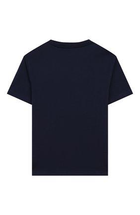 Детская хлопковая футболка POLO RALPH LAUREN синего цвета, арт. 322786269 | Фото 2