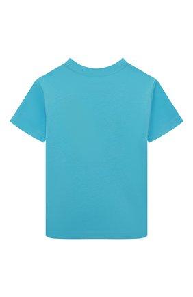 Детская хлопковая футболка POLO RALPH LAUREN голубого цвета, арт. 321786269 | Фото 2