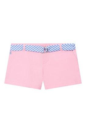 Детские хлопковые шорты POLO RALPH LAUREN розового цвета, арт. 313786044 | Фото 1