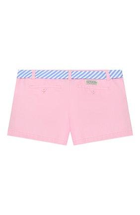 Детские хлопковые шорты POLO RALPH LAUREN розового цвета, арт. 313786044 | Фото 2