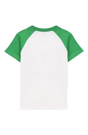Детская хлопковая футболка POLO RALPH LAUREN белого цвета, арт. 321786323 | Фото 2