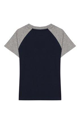 Детская хлопковая футболка POLO RALPH LAUREN синего цвета, арт. 322786323 | Фото 2