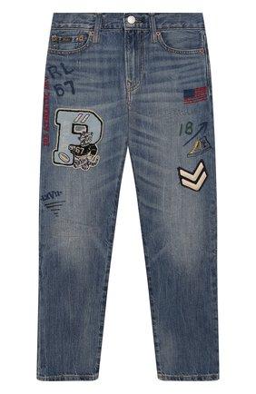 Детские джинсы POLO RALPH LAUREN голубого цвета, арт. 323784326   Фото 1
