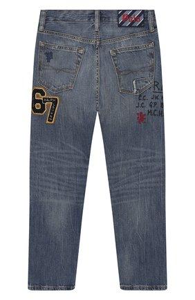 Детские джинсы POLO RALPH LAUREN голубого цвета, арт. 323784326   Фото 2