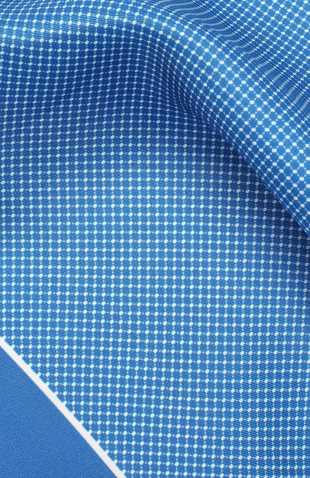Мужской шелковый платок BOSS синего цвета, арт. 50429140 | Фото 2