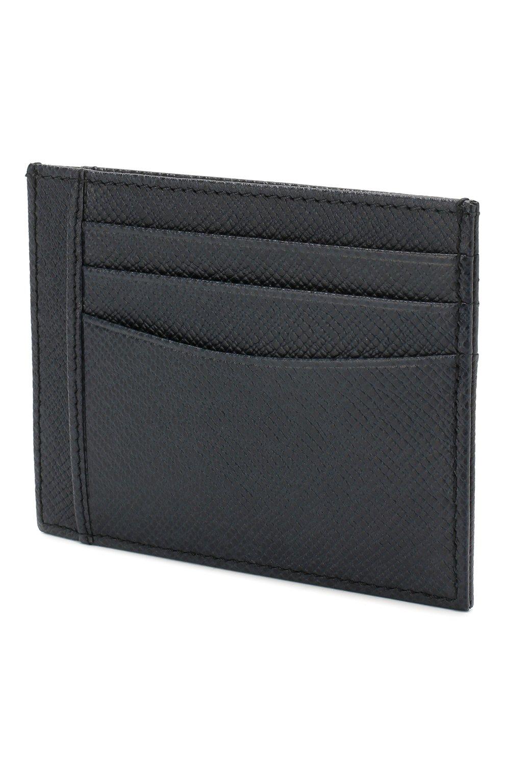 Мужской кожаный футляр для кредитных карт BOSS темно-синего цвета, арт. 50430656 | Фото 2