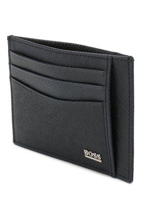 Мужской кожаный футляр для кредитных карт BOSS темно-синего цвета, арт. 50430656 | Фото 3