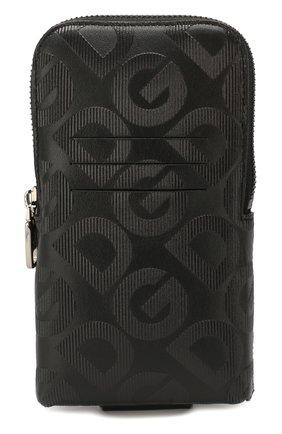 Мужская кожаная поясная сумка DOLCE & GABBANA черного цвета, арт. BP2576/AJ690 | Фото 1