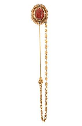 Мужская булавка для галстука DOLCE & GABBANA золотого цвета, арт. WPM1K2/W1111 | Фото 1