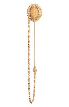 Мужская булавка для галстука DOLCE & GABBANA золотого цвета, арт. WPM1K2/W1111 | Фото 2