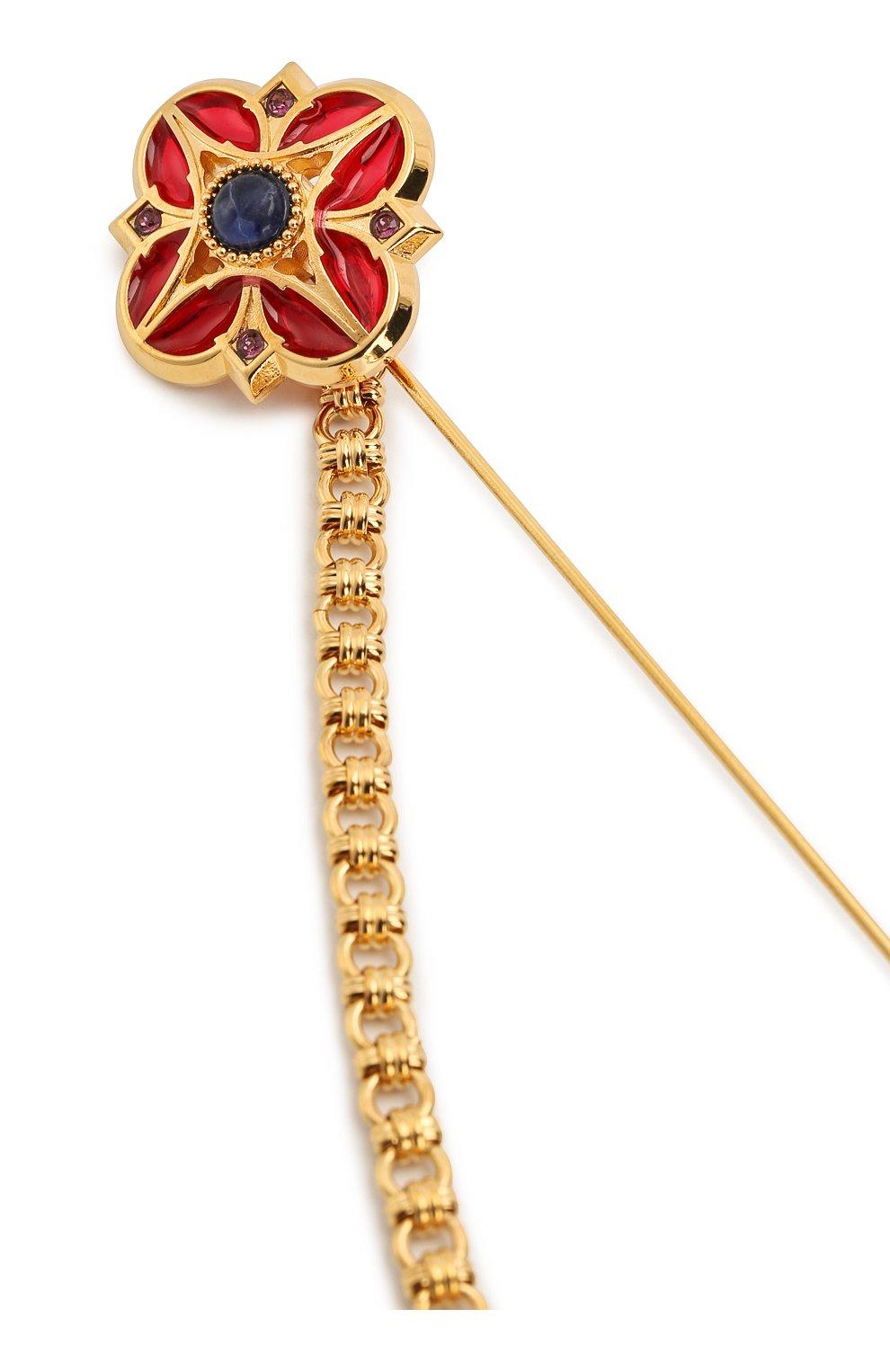 Мужская булавка для галстука DOLCE & GABBANA золотого цвета, арт. WPM1K6/W1111 | Фото 3 (Стили: Классический)