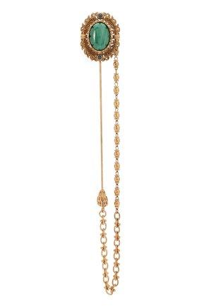 Мужская булавка для галстука DOLCE & GABBANA золотого цвета, арт. WPM1K1/W1111 | Фото 1