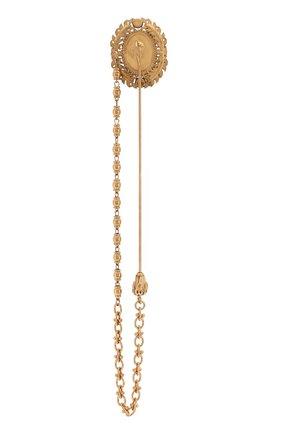 Мужская булавка для галстука DOLCE & GABBANA золотого цвета, арт. WPM1K1/W1111 | Фото 2