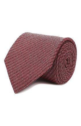 Мужской галстук из смеси льна и шелка ERMENEGILDO ZEGNA красного цвета, арт. Z7E24/1L8 | Фото 1