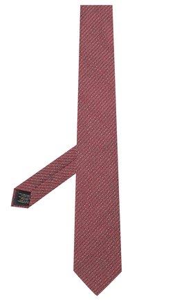 Мужской галстук из смеси льна и шелка ERMENEGILDO ZEGNA красного цвета, арт. Z7E24/1L8 | Фото 2