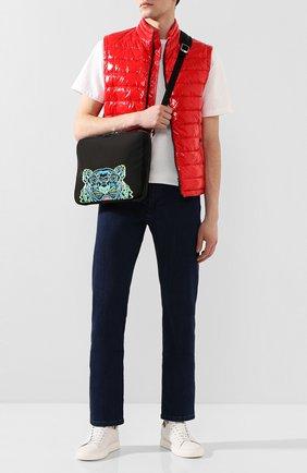 Мужская текстильная сумка для ноутбука KENZO черного цвета, арт. FA55SF308F20 | Фото 2