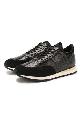 Мужские кожаные кроссовки GIUSEPPE ZANOTTI DESIGN черного цвета, арт. EU00055/001 | Фото 1