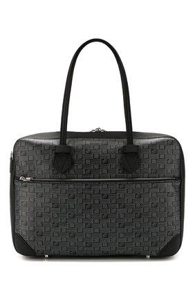 Мужской кожаный портфель MOREAU темно-серого цвета, арт. SSV040ITVTTTSTB | Фото 1