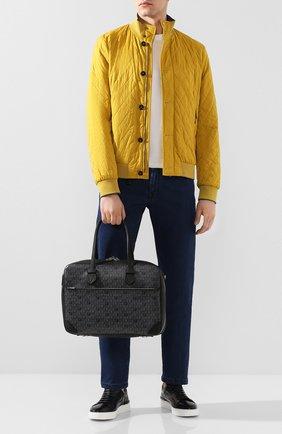 Мужской кожаный портфель MOREAU темно-серого цвета, арт. SSV040ITVTTTSTB | Фото 2