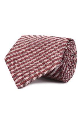 Мужской шелковый галстук LUIGI BORRELLI красного цвета, арт. LC80-B/TT9134 | Фото 1