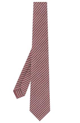 Мужской шелковый галстук LUIGI BORRELLI красного цвета, арт. LC80-B/TT9134 | Фото 2