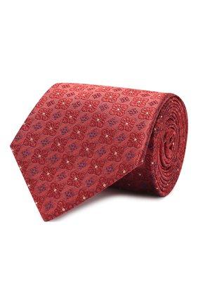 Мужской шелковый галстук LUIGI BORRELLI бордового цвета, арт. LC80-B/TT9185 | Фото 1