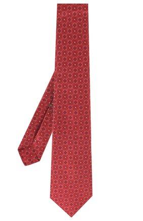 Мужской шелковый галстук LUIGI BORRELLI бордового цвета, арт. LC80-B/TT9185 | Фото 2