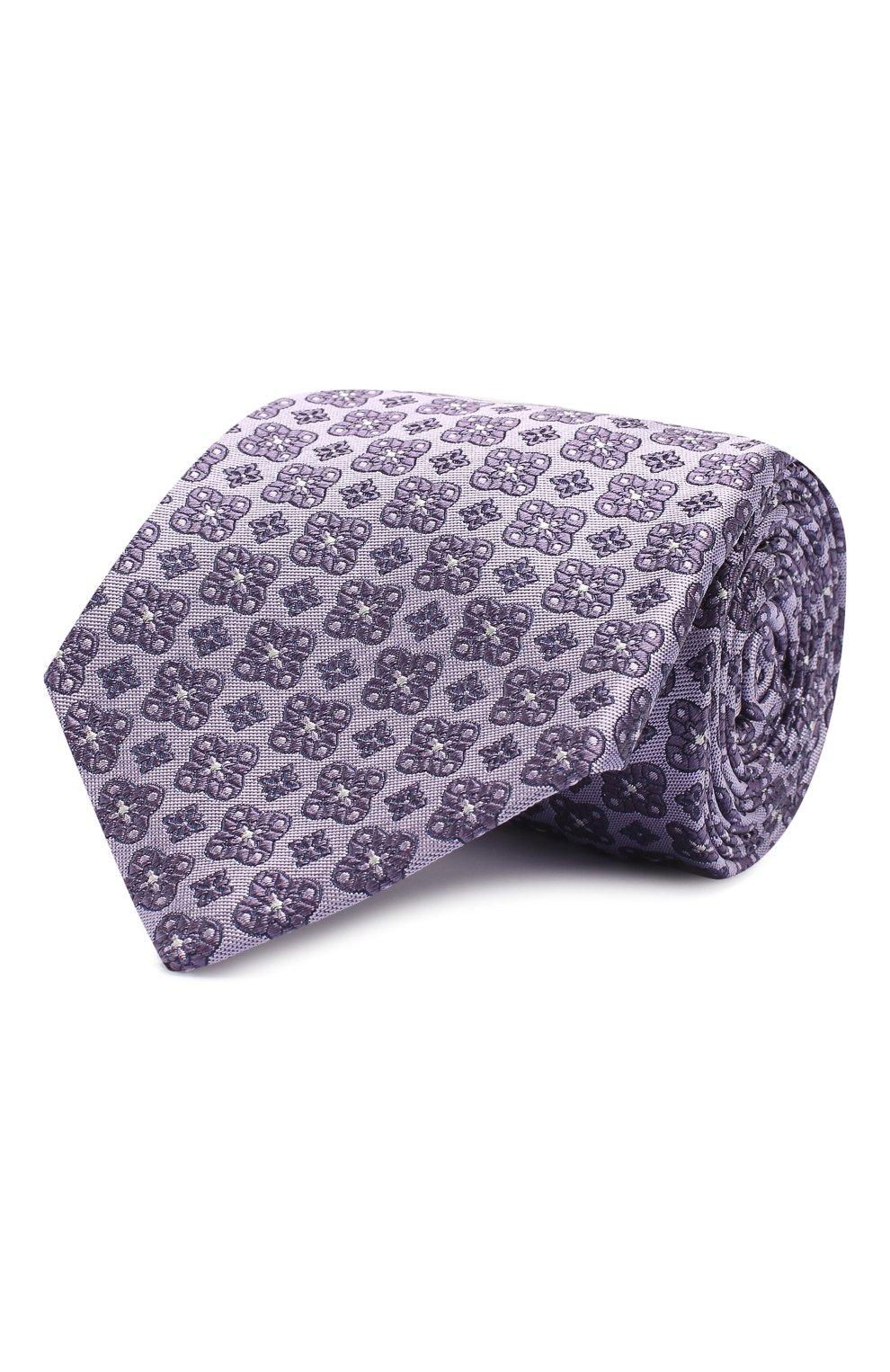 Мужской шелковый галстук LUIGI BORRELLI фиолетового цвета, арт. LC80-B/TT9185   Фото 1