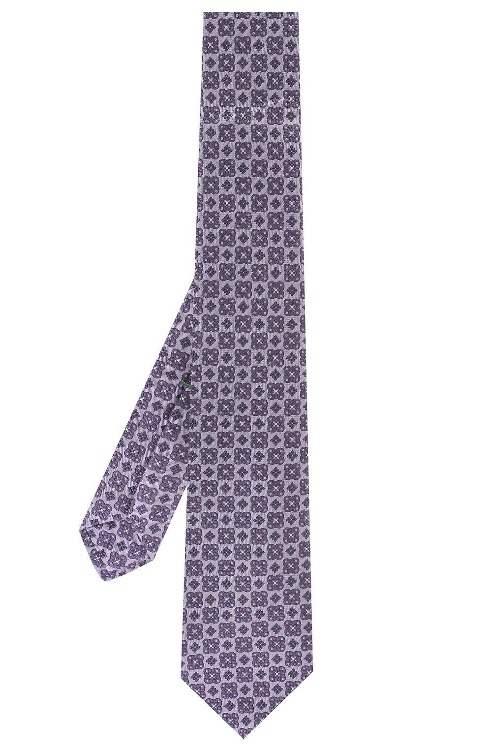 Мужской шелковый галстук LUIGI BORRELLI фиолетового цвета, арт. LC80-B/TT9185   Фото 2