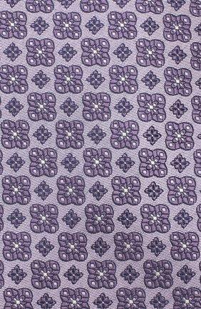 Мужской шелковый галстук LUIGI BORRELLI фиолетового цвета, арт. LC80-B/TT9185   Фото 3