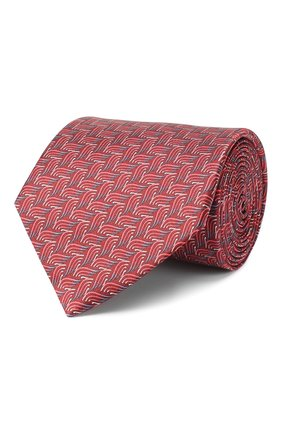 Мужской шелковый галстук LANVIN красного цвета, арт. 2870/TIE | Фото 1