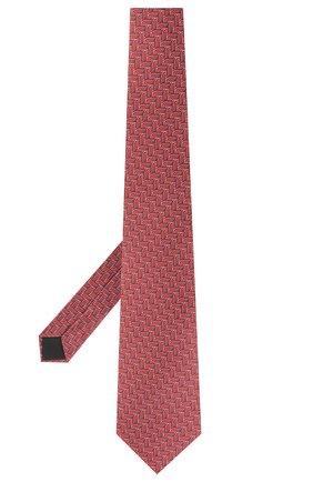 Мужской шелковый галстук LANVIN красного цвета, арт. 2870/TIE | Фото 2
