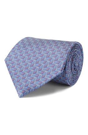 Мужской шелковый галстук LANVIN голубого цвета, арт. 2870/TIE   Фото 1