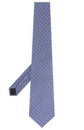 Мужской шелковый галстук LANVIN голубого цвета, арт. 2870/TIE   Фото 2
