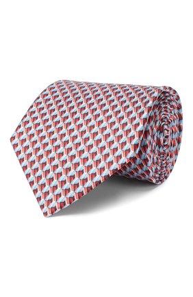Мужской шелковый галстук LANVIN красного цвета, арт. 2864/TIE   Фото 1