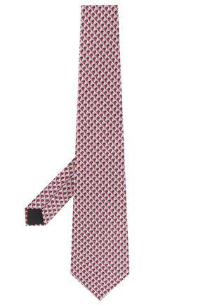 Мужской шелковый галстук LANVIN красного цвета, арт. 2864/TIE   Фото 2