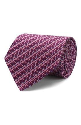 Мужской шелковый галстук LANVIN фиолетового цвета, арт. 2837/TIE | Фото 1