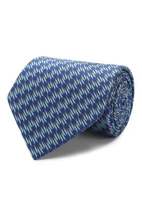 Мужской шелковый галстук LANVIN синего цвета, арт. 2837/TIE   Фото 1
