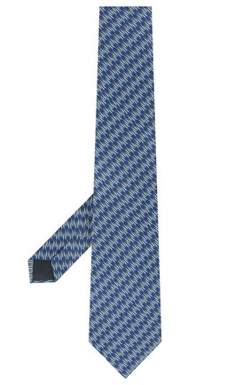 Мужской шелковый галстук LANVIN синего цвета, арт. 2837/TIE   Фото 2