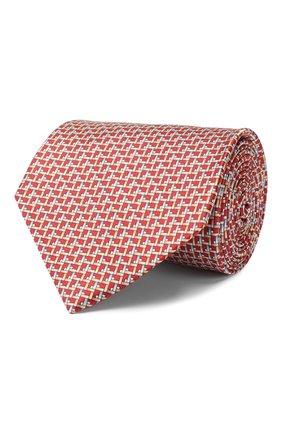 Мужской шелковый галстук LANVIN красного цвета, арт. 2815/TIE | Фото 1