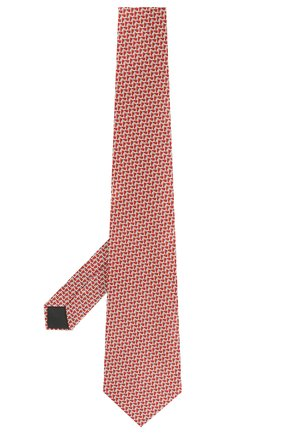 Мужской шелковый галстук LANVIN красного цвета, арт. 2815/TIE | Фото 2