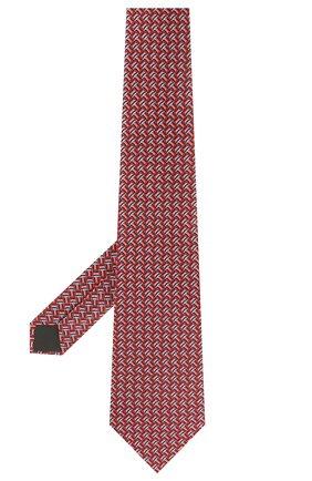 Мужской шелковый галстук LANVIN красного цвета, арт. 2812/TIE | Фото 2
