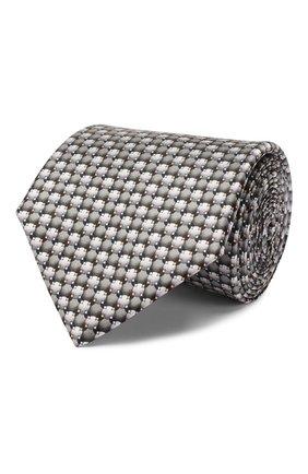Мужской шелковый галстук LANVIN серого цвета, арт. 2803/TIE   Фото 1