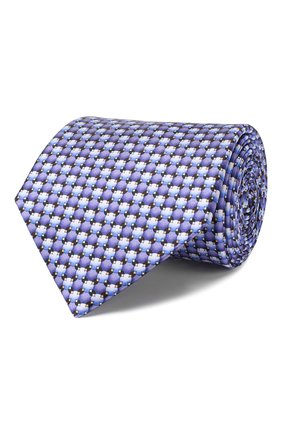 Мужской шелковый галстук LANVIN фиолетового цвета, арт. 2803/TIE | Фото 1