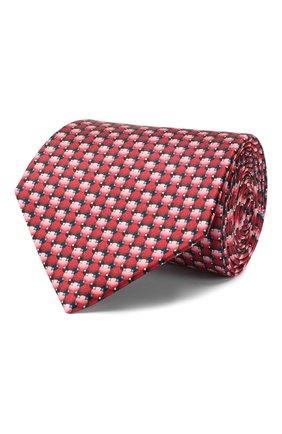 Мужской шелковый галстук LANVIN красного цвета, арт. 2803/TIE | Фото 1