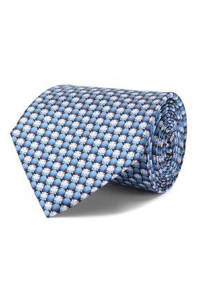 Мужской шелковый галстук LANVIN синего цвета, арт. 2803/TIE   Фото 1