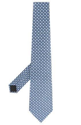 Мужской шелковый галстук LANVIN синего цвета, арт. 2803/TIE   Фото 2