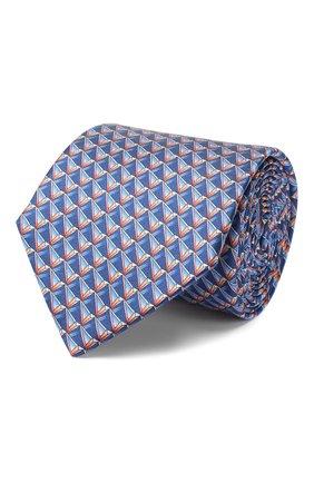 Мужской шелковый галстук LANVIN голубого цвета, арт. 2800/TIE   Фото 1