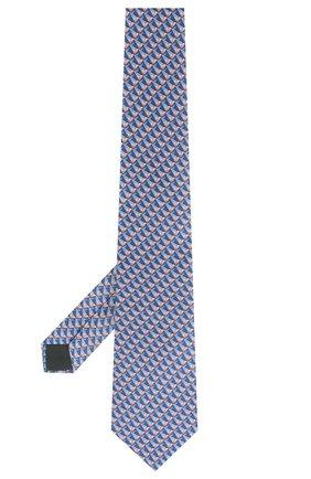 Мужской шелковый галстук LANVIN голубого цвета, арт. 2800/TIE   Фото 2
