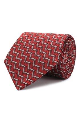 Мужской шелковый галстук LANVIN красного цвета, арт. 2571/TIE | Фото 1